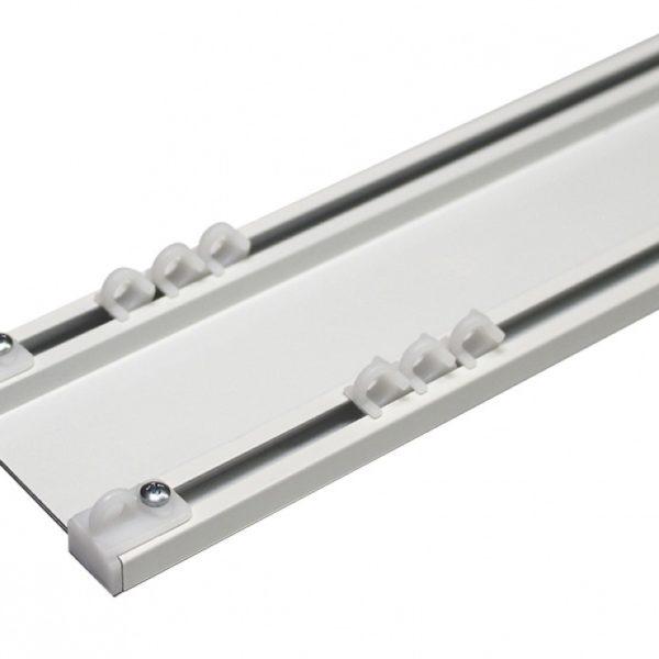 Карниз алюминиевый двухрядный потолочный