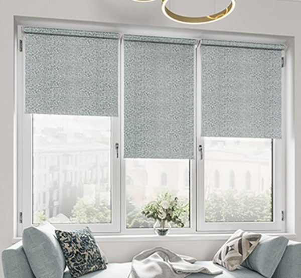 Рулонные шторы мозаика темно-серый