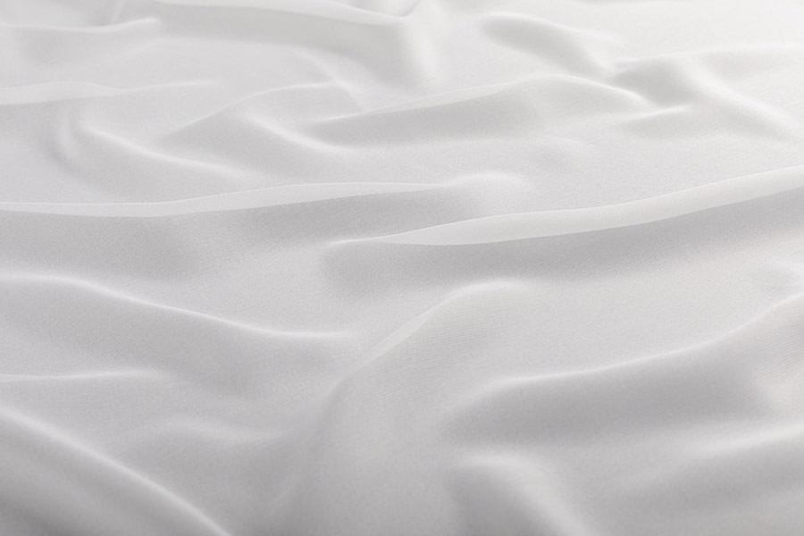 Белый тюль мягкий шелк