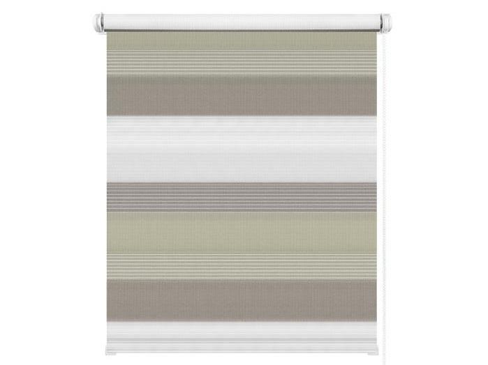Рулонные шторы день-ночь бежево-коричневый