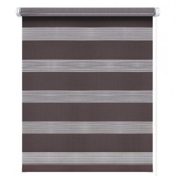 Рулонные шторы День-Ночь коричневые