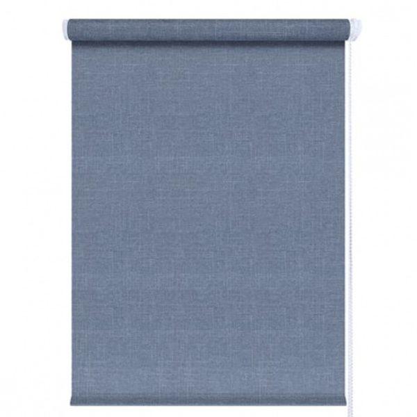Рулонные шторы джинс синий