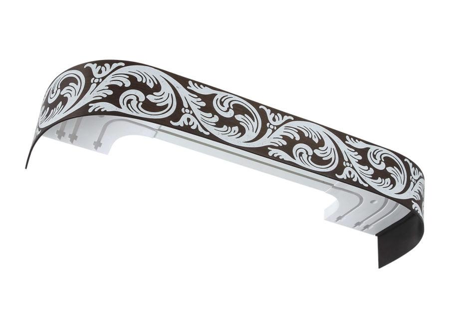 Карниз потолочный пластиковый Луара латунь