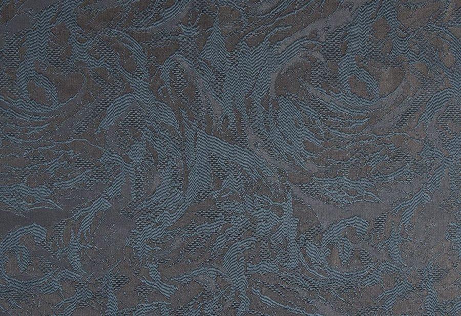 Штора Дюна сине-коричневая