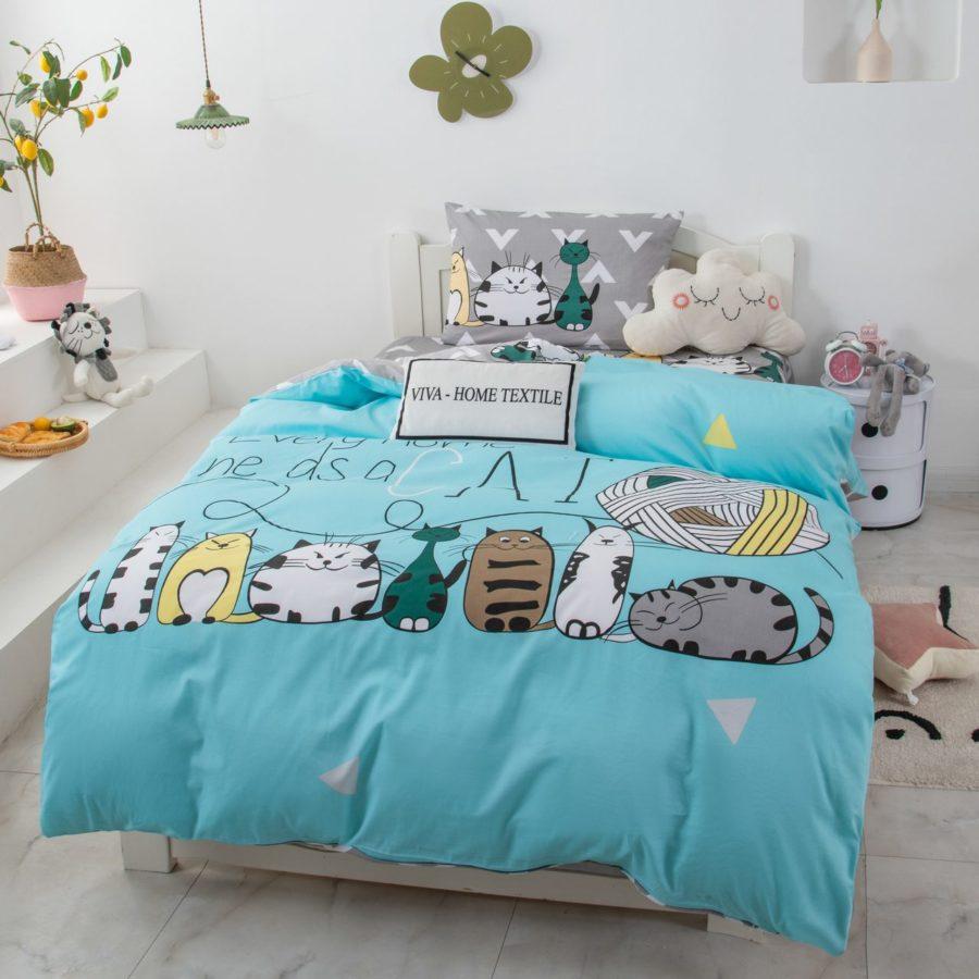 Детское постельное белье с кошками