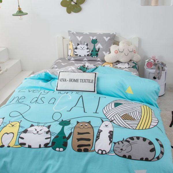 Постельное белье для детей с котиками