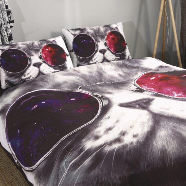 Постельное белье космические коты модное