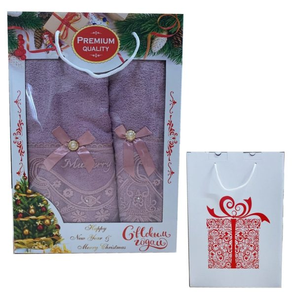 Подарочный набор полотенца новогодний