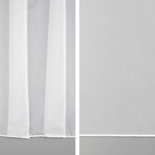 Тюль белая классическая вуаль