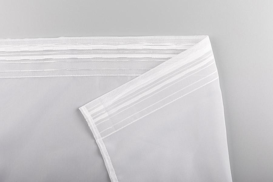 Тюль вуаль белый лента
