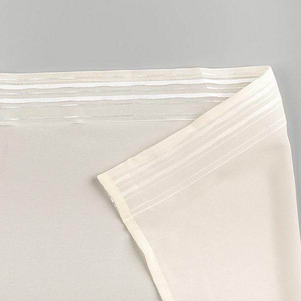 Тюль вуаль шелк молочный лента