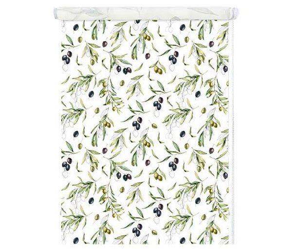 Рулонные шторы с рисунком Олива