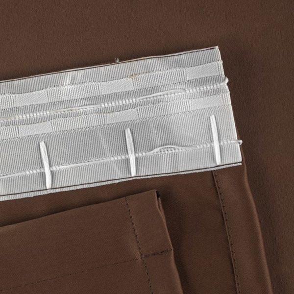 Портьеры светонепроницаемые коричневые