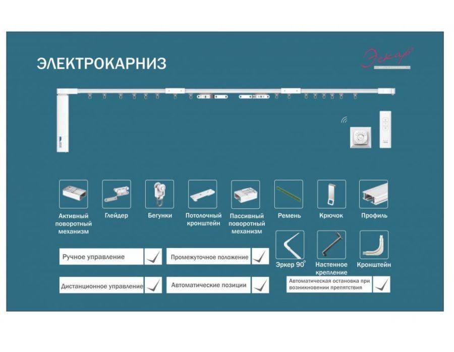 Электрокарниз для штор схема