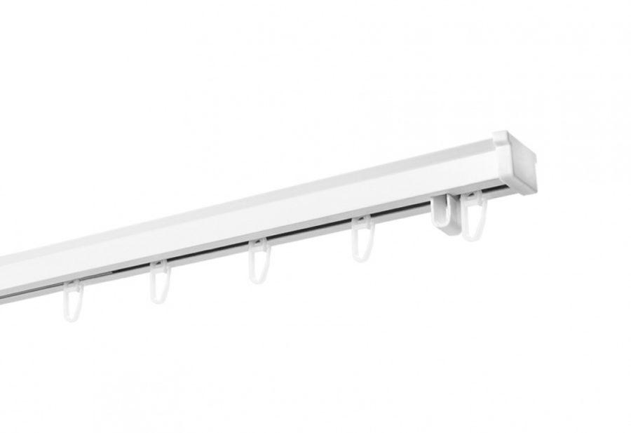 Карниз алюминиевый раздвижной однорядный