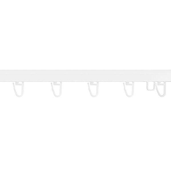 Карниз раздвижной потолочный алюминиевый однорядный